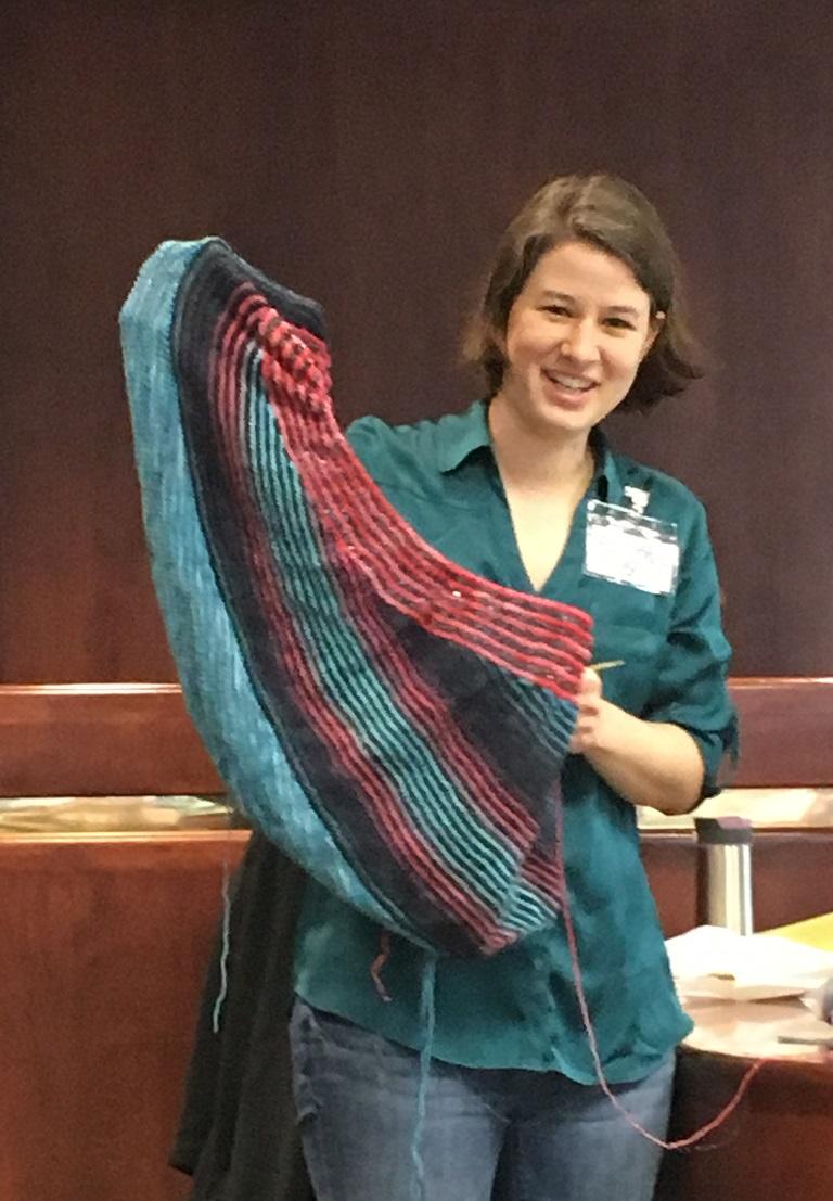 Amanda with StevenBe shawl 2-11-17