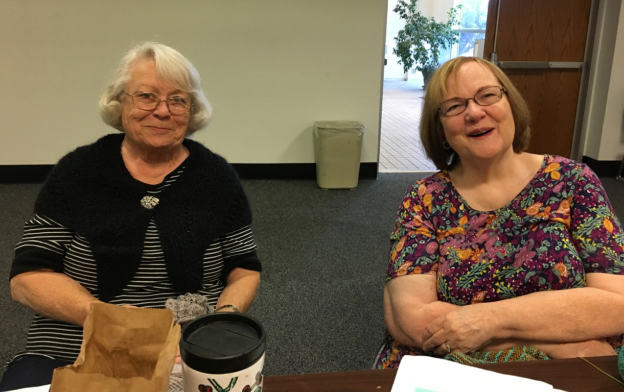Library Barbara and Amy