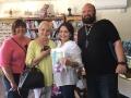Kim, Erma, Hilda, Ron SLO yarn crawl